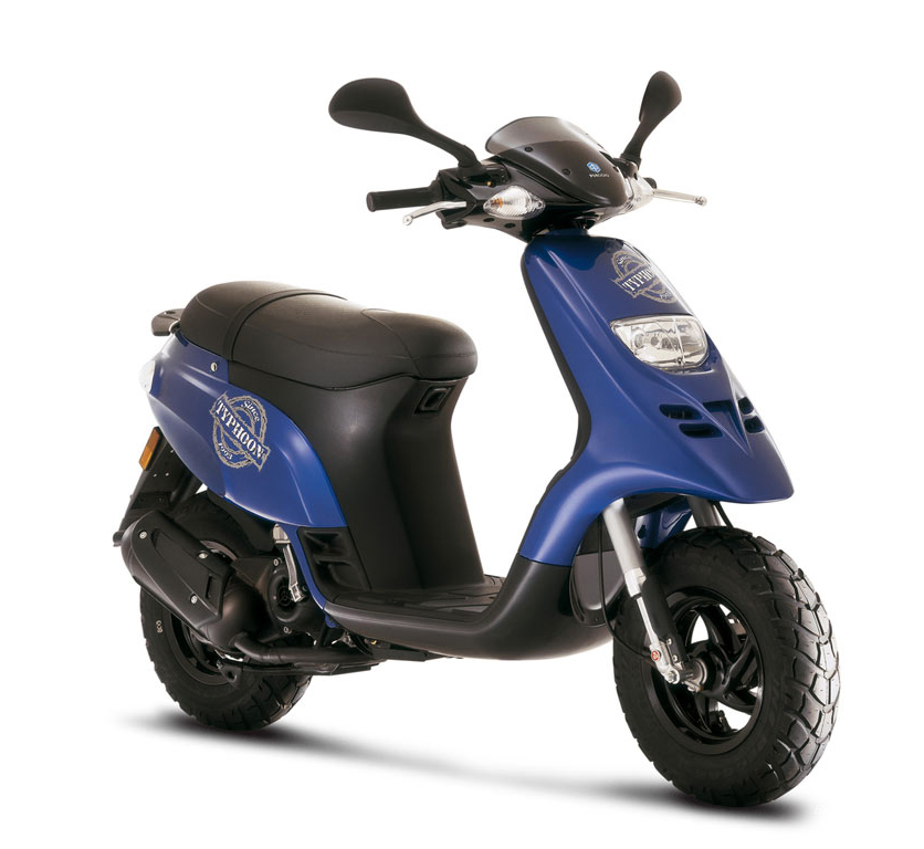 Kymco Agility 125 >> Piaggio Typhoon 80 | Dinos | Rent a Bike in Andros